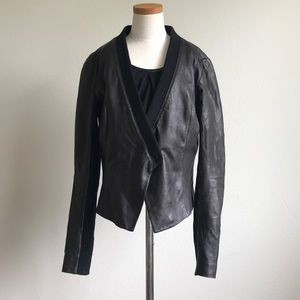 Trouvé Leather Bomber Jacket